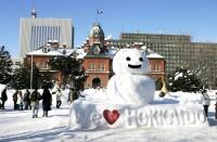 旧北海道庁前の雪だるま